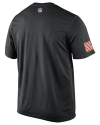 Nike Black Mens Short-sleeve New York Jets Salute To Service Legend T-shirt for men