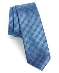 Calibrate - Blue 'bangka Grid' Silk Tie for Men - Lyst