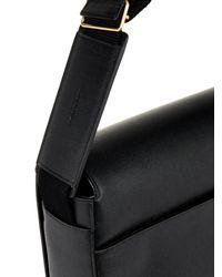 Saint Laurent Black Grained-Leather Messenger Bag for men