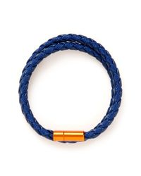 Tateossian | Blue Chelsea Woven-Leather Double-Wrap Bracelet for Men | Lyst