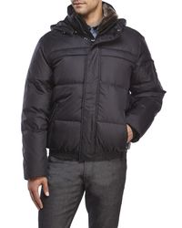 Marc New York - Black Fauxmula Puffer Coat for Men - Lyst