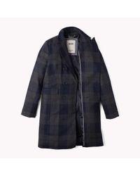 Tommy Hilfiger | Blue Wool Blend Coat | Lyst