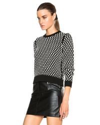 T By Alexander Wang White Egg Shape Cable Cropped Pullover