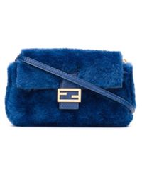 Fendi | Blue Micro 'baguette' Crossbody Bag | Lyst