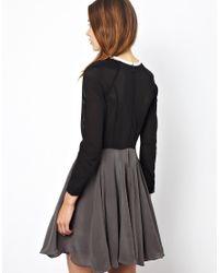 Antipodium | Gray Vector Dress in Silk | Lyst