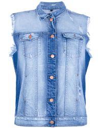 J Brand Blue Sleeveless Denim Jacket