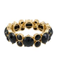 Kenneth Cole | Black Faceted Bead Stretch Bracelet | Lyst