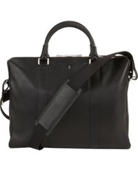 Serapian Black Double Handle Briefcase for men