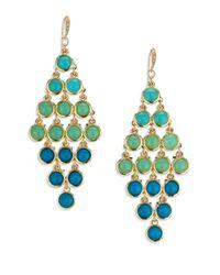 ABS By Allen Schwartz | Metallic Seaglass Brights Chandelier Earrings | Lyst