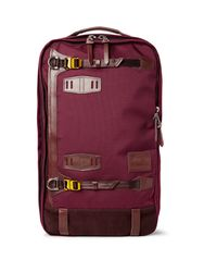 Master Piece - Purple Potential Leather And Suede-trimmed Canvas Backpack for Men - Lyst
