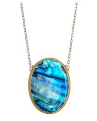 Gurhan - Metallic Silver And Paua Shell Pendant Necklace - Lyst