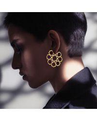 Ralph Masri - Metallic Arabesque Hoop Earrings - Lyst