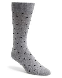Polo Ralph Lauren | Gray Dot Socks for Men | Lyst