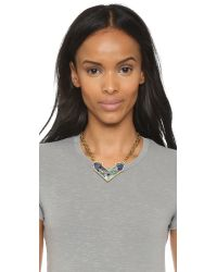 Lulu Frost | Green Petra Pendant Necklace - Blue Multi | Lyst