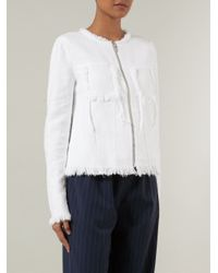 T By Alexander Wang - White Burlap Jacket - Lyst