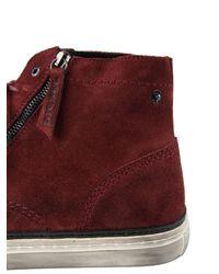 DIESEL - Purple D-blaast Oiled-Suede Mid-Top Boots for Men - Lyst