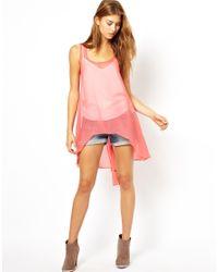 Jarlo | Pink Casey Dip Hem Tunic | Lyst