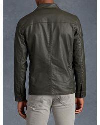 John Varvatos - Green Cotton Zip Jacket for Men - Lyst