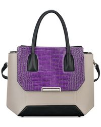 Nine West - Purple Balancing Act Satchel - Lyst