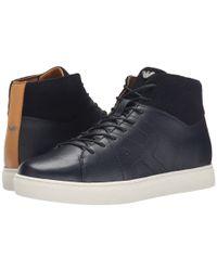 Armani Jeans Blue Saffiano Leather Hi-top for men