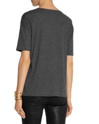 T By Alexander Wang Gray Cotton-jersey T-shirt