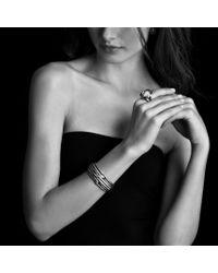 David Yurman - Metallic Labyrinth Large Ring with Diamonds - Lyst