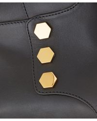 Tod's Black Gomma Stud Leather Knee Boots