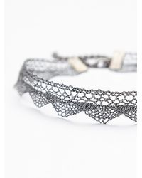 Free People - Metallic Aris Lace Choker - Lyst
