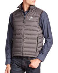 Polo Ralph Lauren Gray Rlx Global Explorer Down Vest for men