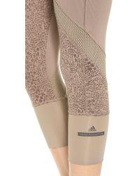 Adidas By Stella McCartney Gray Starter 3/4 Tight Leggings - Natural Grey