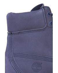 Timberland Gray Premium 6-inch Waterproof Boots - Grey Nubuck