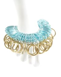 Kirsty Ward - Blue Alu Loops & Brass Rings Bracelet - Lyst