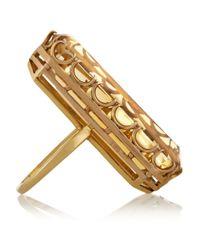 Fred Leighton Metallic 1940S 18-Karat Gold Citrine Ring