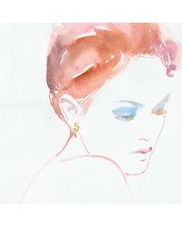 Lulu Frost - Metallic Code Number 18kt #5 Earring - Lyst