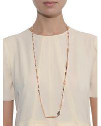 Monique Péan - Metallic Geometric-Link Rose-Gold Necklace - Lyst