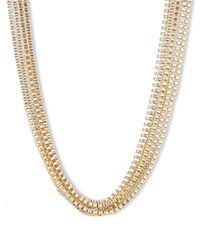 Anne Klein Metallic Goldtone Multi-Strand Necklace