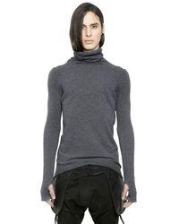 Alexandre Plokhov Gray Turtleneck Cashmere Sweater for men