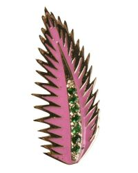 Alison Lou | Metallic Palm Leaf Earring | Lyst