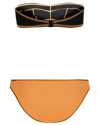 TOPSHOP | Black Contrast Stitch Neon Bikini Set | Lyst