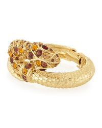 Kenneth Jay Lane | Metallic Embellished Snake Bracelet | Lyst