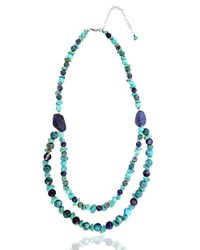 Lord & Taylor | Blue Beaded Double-strand Collar Necklace | Lyst