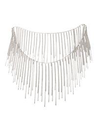 Fallon | Metallic Fringe Necklace | Lyst