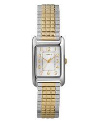 Timex - Metallic Women'S Modern Mini Two-Tone Expansion Bracelet Watch 20Mm T2P305Um - Lyst