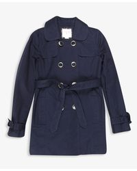 Forever 21 | Blue Girls Belted Trench Coat | Lyst