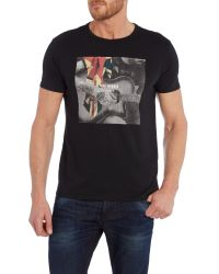 Ben Sherman - Black Union Jack Guitar Print T-shirt for Men - Lyst