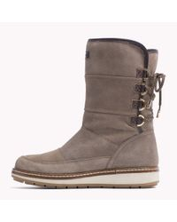 Tommy Hilfiger | Brown Suede Boot | Lyst