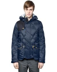 Moncler Gamme Bleu Blue Quilted Nylon Down Jacket for men