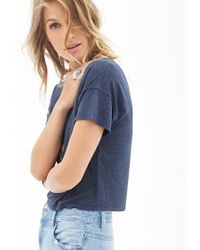 Forever 21 - Blue Boxy Knit Tee - Lyst