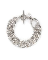 Philippe Audibert | Metallic Gourmette Chain Bracelet | Lyst