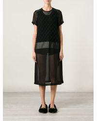 Comme des Garçons - Black Ladies Dress - Lyst